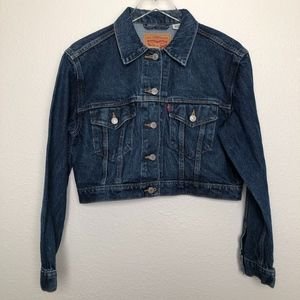 Levi's | Cropped Trucker Denim Jean Jacket M